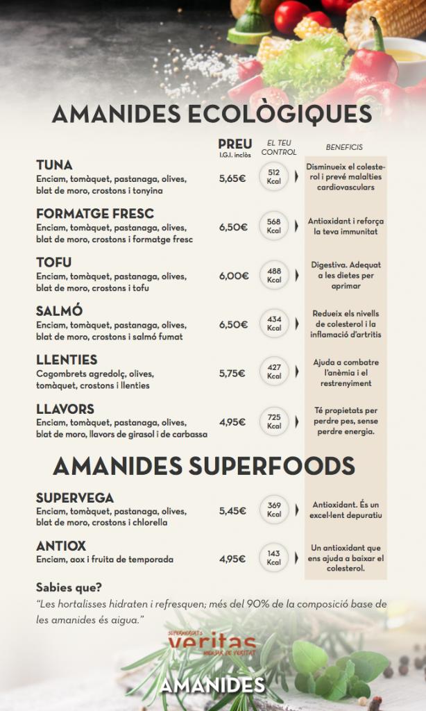 Amanides Ecològiques i Amanides Superfood