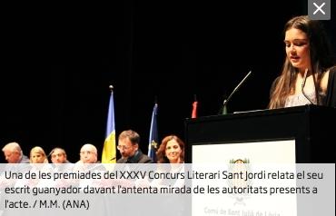 Entrega de premis al concurs literari Sant Jordi 2017