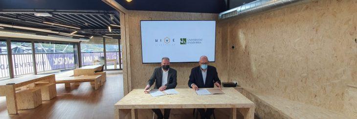 Acord Universitat Andorra Hive Five Bomosa